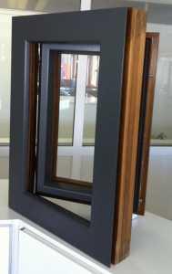 Ventana madera-aluminio